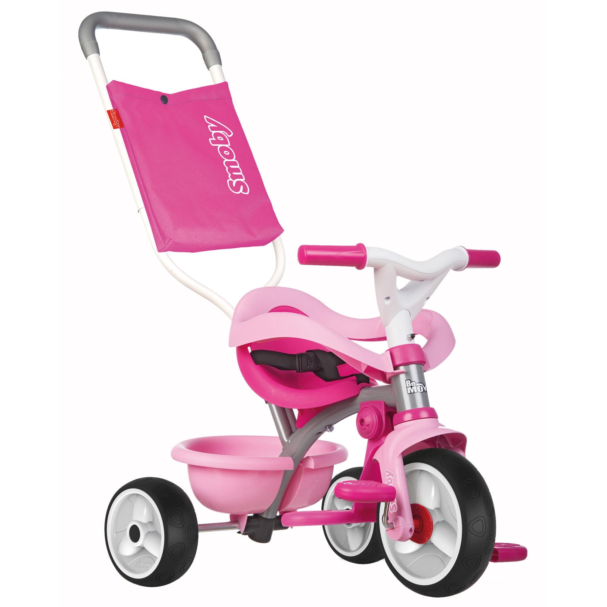 Fotografie Tricicleta Smoby Be Move Comfort, cu roti silentioase, roz