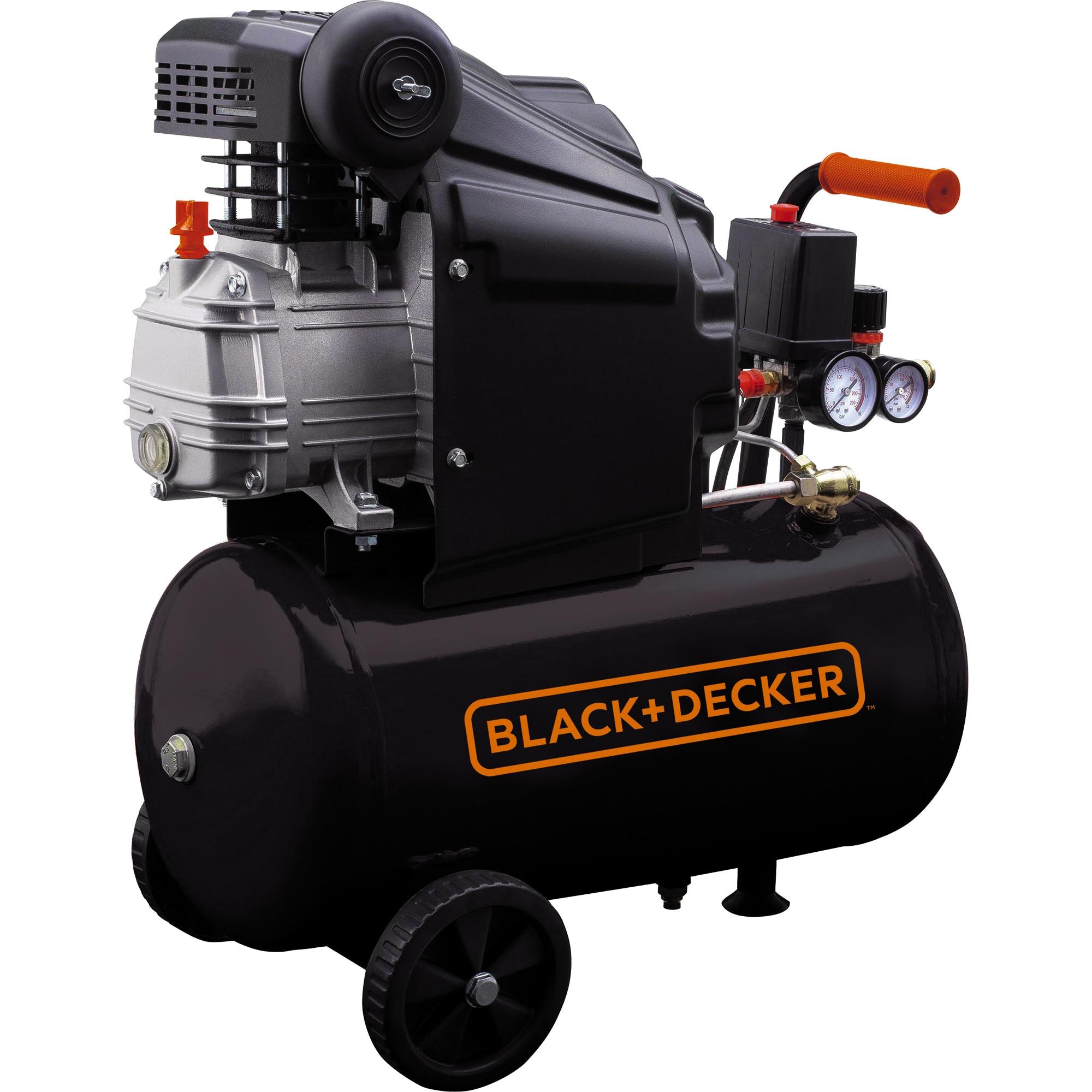 Fotografie Compresor Black & Decker BD 205/24, 24 l, 2 CP, 8 Bar