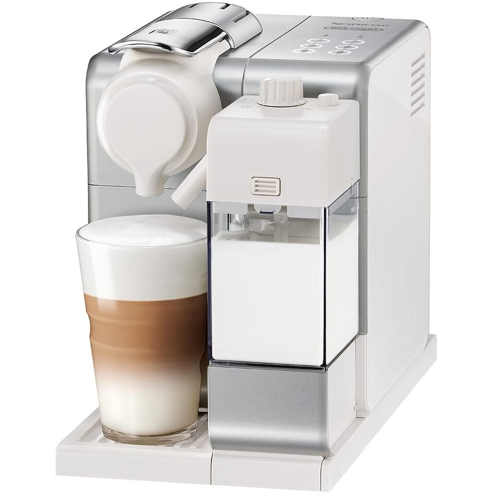 Fotografie Espressor Nespresso Lattissima Touch F521-EU-SI-NE, 1400 W, 19 bar, 0.9L, sistem spuma lapte automat, Argintiu