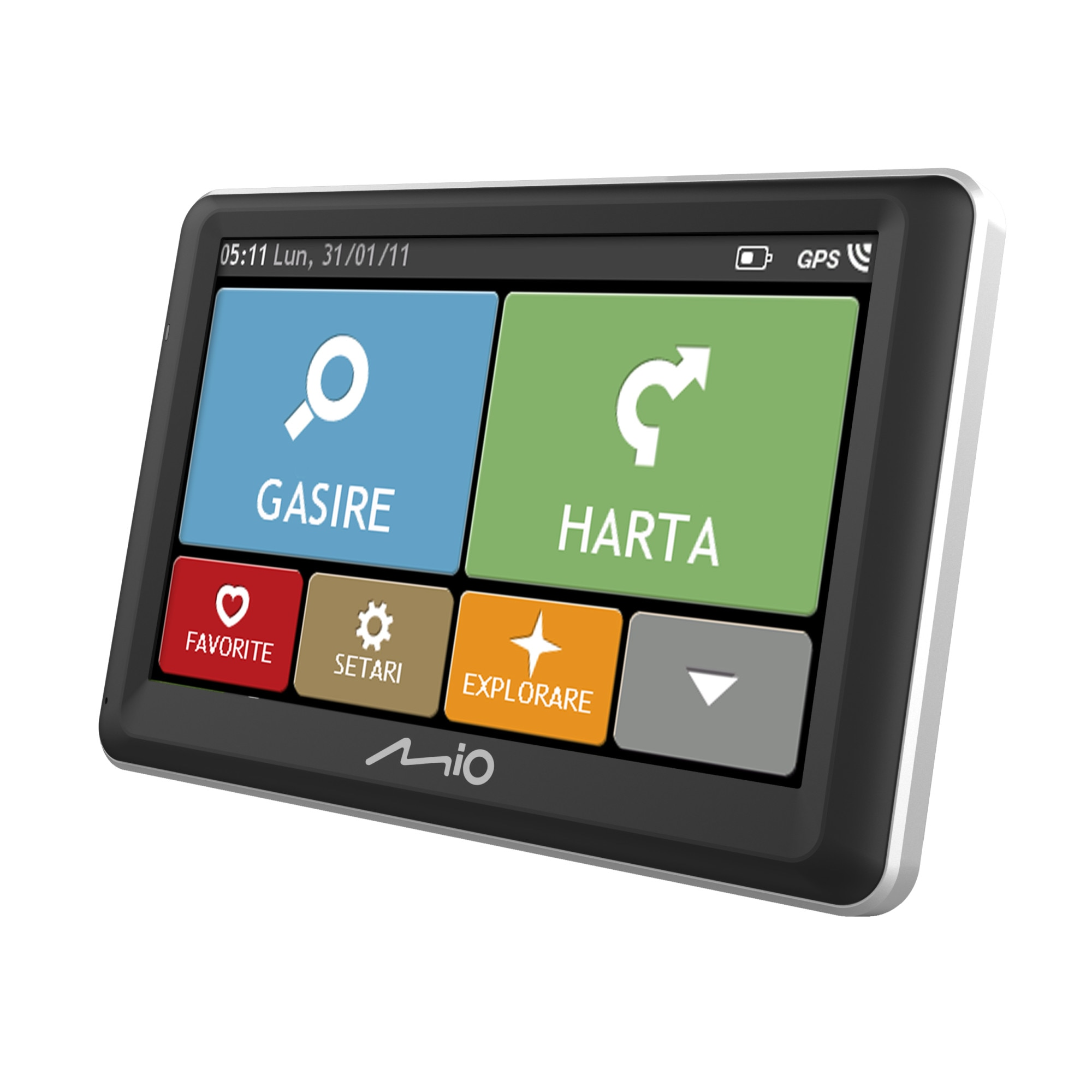 "Fotografie Sistem de navigatie Mio Spirit 7700 LM, ecran tactil de 5 "", actualizări gratuite pe viata, suport magnetic activ"