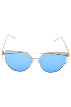 Дамски слънчеви очила ROCS, 2868, Cat's Eyes, Металик, Златист/ Син