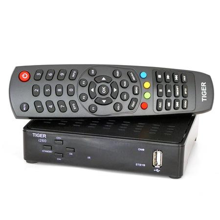 Декодер IPTV Set-Top Box Tiger i260, H.265, 2GB, USB x 2, S/PDIF, LAN, WiFi Ready