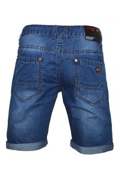 Мъжки къси дънки deq x30, Син, 36