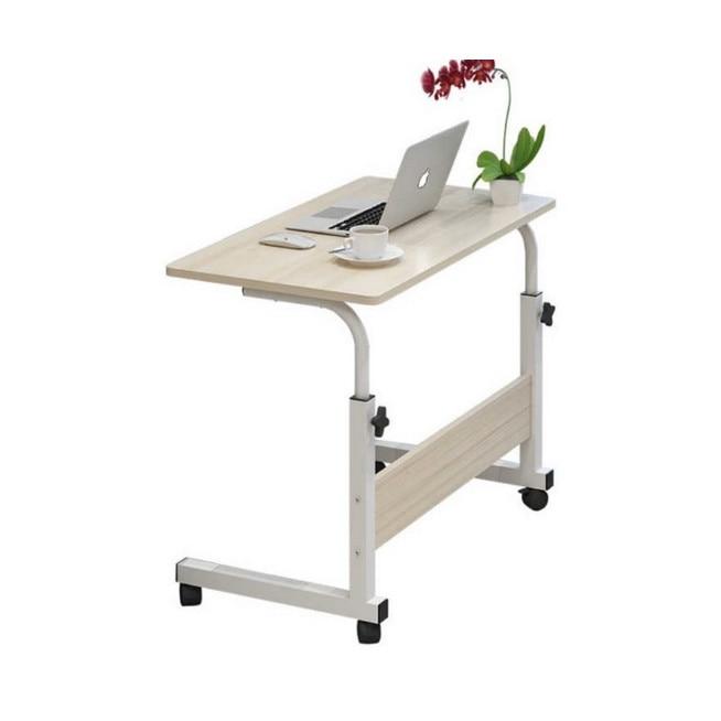 Masuta laptop reglabila-mini birou cu roti,masa laptop cu blat lemn -  eMAG.ro