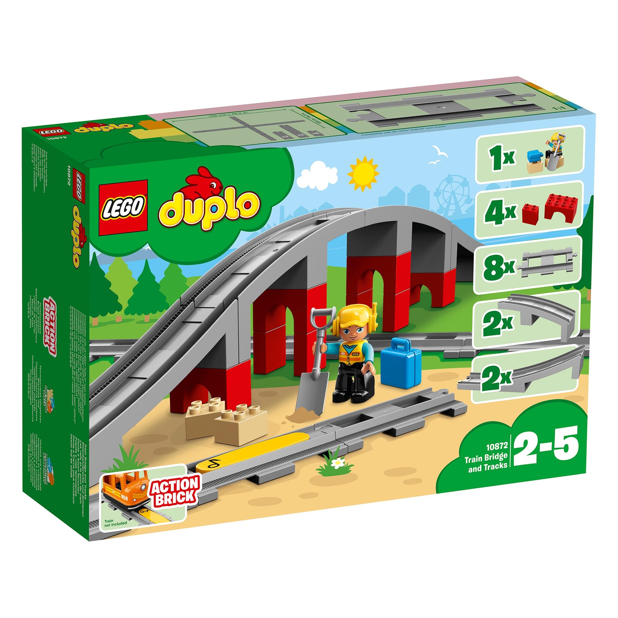 Fotografie LEGO DUPLO - Pod si sine de cale ferata 10872