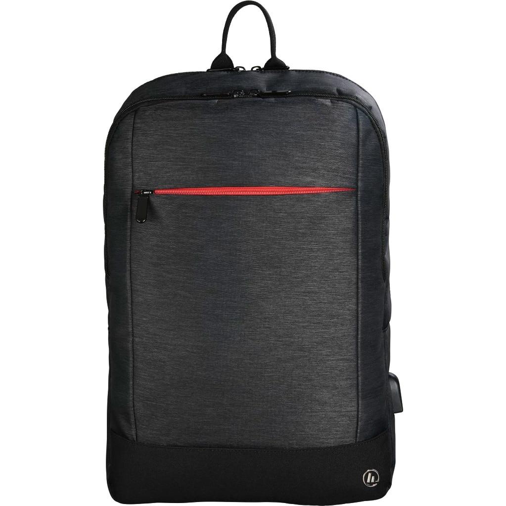 "Fotografie Rucsac laptop Hama Manchester, cu port USB, 15.6"", Negru"