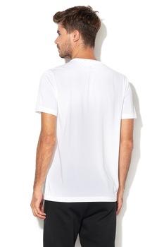 Puma, Active normál fazonú logómintás póló, Fehér/Fekete