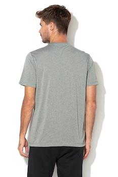 Puma, Active normál fazonú logómintás póló, Melange szürke/Fekete