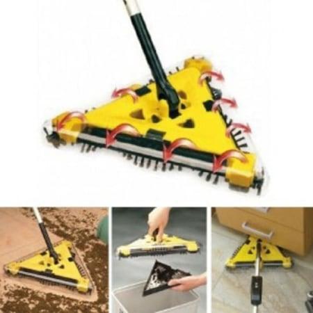 Електрическа Подочистачка - триъгълна Twister Sweeper , Жълто/Сива