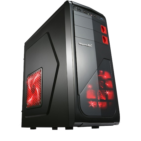 Настолен компютър GeFors GOLD 1 - Intel®QuadCore™ i5-4440 up to 3.30Ghz TURBO, 8GB RAM, 1000GB HDD+ SSD 120GB, Intel® HD Graphics 4600, DVD-RW, Комплект клавиатура, мишка
