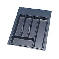 Volpato metálszürke műanyag MOD45 evőeszköztartó fiókba, 45-ös elemhez