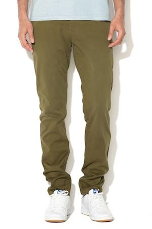 Pepe Jeans London, Панталон чино Charly по тялото, Армия зелено