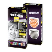 Pufies Trusted Trends 5 Junior pelenka, Value Pack, Moroccan Baby, 88 darab
