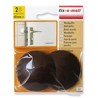 ABRABORO® FIX-O-MOLL fali ütköző, öntapadó vagy csavarozható, barna, 2 db
