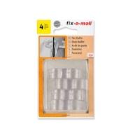 ABRABORO® FIX-O-MOLL ajtóütköző kilincsre, elasztikus műanyag, átlátszó