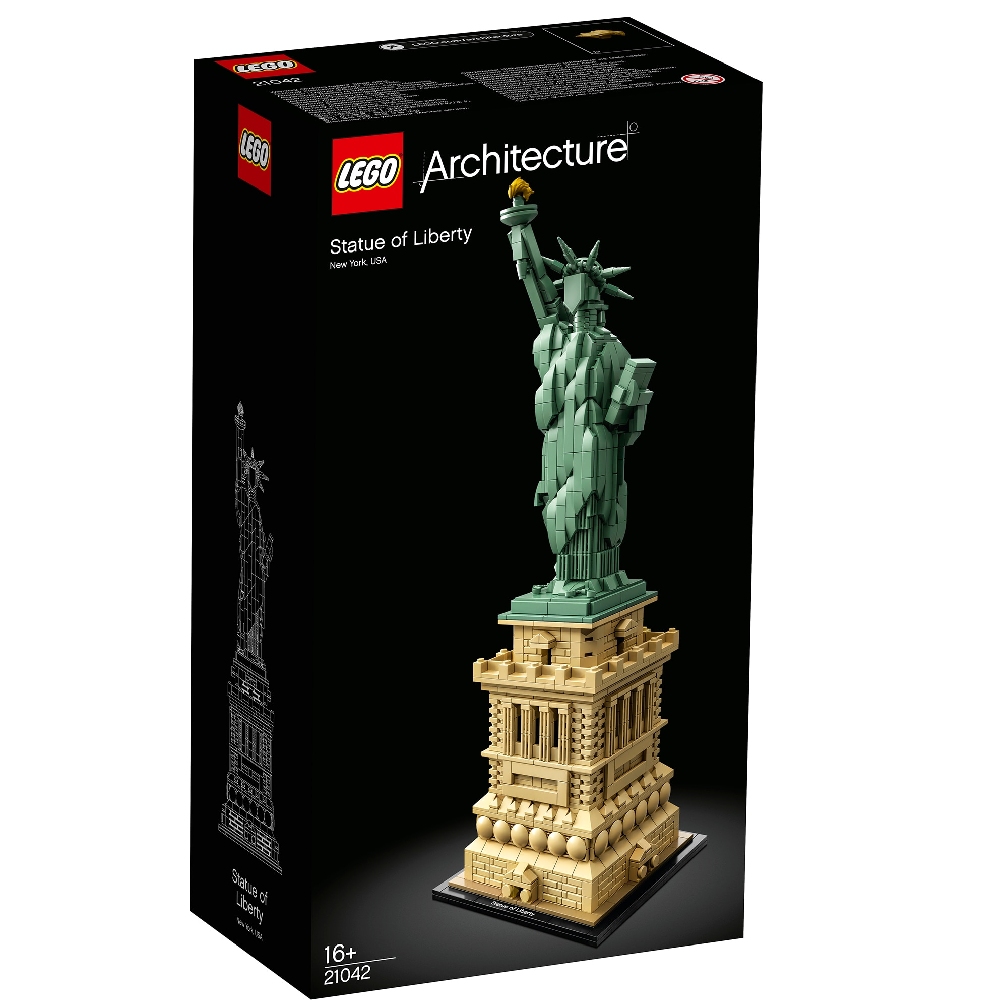 Fotografie LEGO Architecture - Statuia Libertatii 21042, 1685 piese