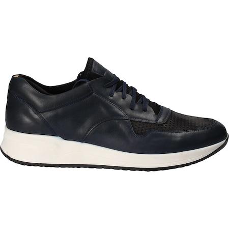 Pantofi eleganti din piele, casual, Da Vinci, negru-albastru, Marimea 41