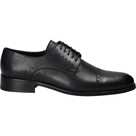 Pantofi barbati, din piele naturala, Da Vinci,bleumarin, Marimea 44