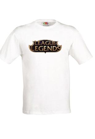 Бяла мъжка тениска ROLY League Of Legends, Бяла