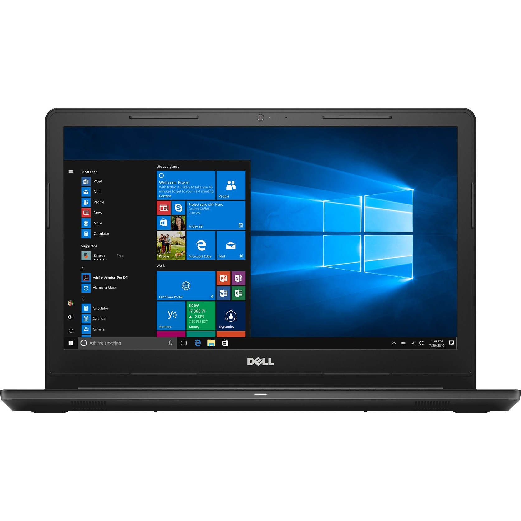 "Fotografie Laptop Dell Inspiron 3567 cu procesor Intel® Core™ i5-7200U pana la 3.10 GHz, Kaby Lake, 15.6"", Full HD, 4GB, 1TB, Intel® HD Graphics 620, Microsoft Windows 10, Black"