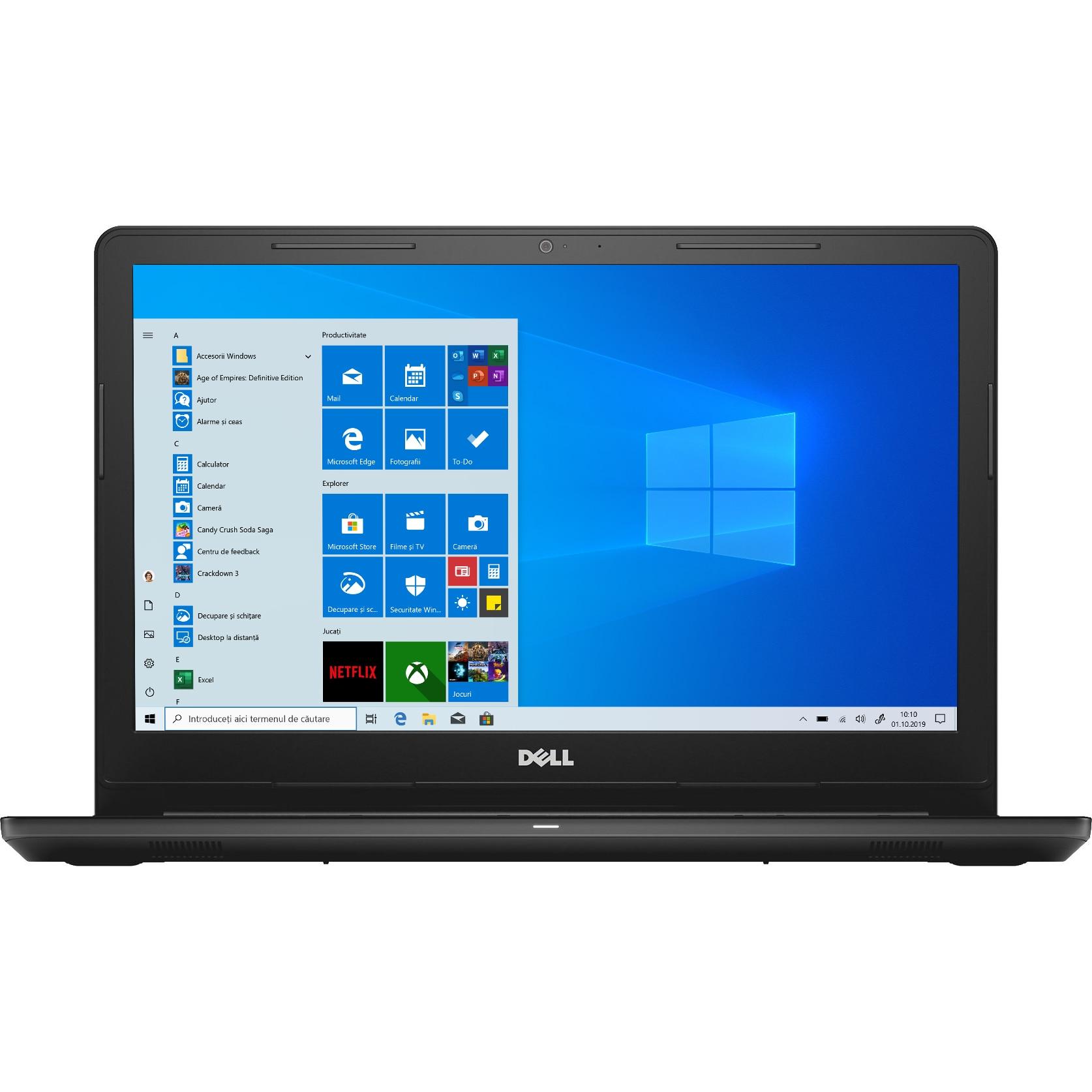 """Fotografie Laptop Dell Inspiron 3576 cu procesor Intel® Core™ i5-8250U pana la 3.40 GHz, 15.6"""", Full HD, 8GB, 256GB SSD, AMD Radeon 520 2GB, Microsoft Windows 10, Black"""