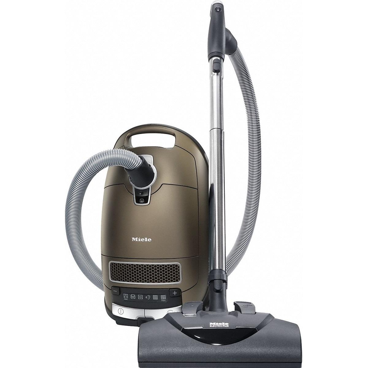 Fotografie Aspirator cu sac Miele Complete C3 Electro EcoLine - SGFP3, 550 W, 4.5L, perie electrica, filtru HEPA, 77 dB, Maro