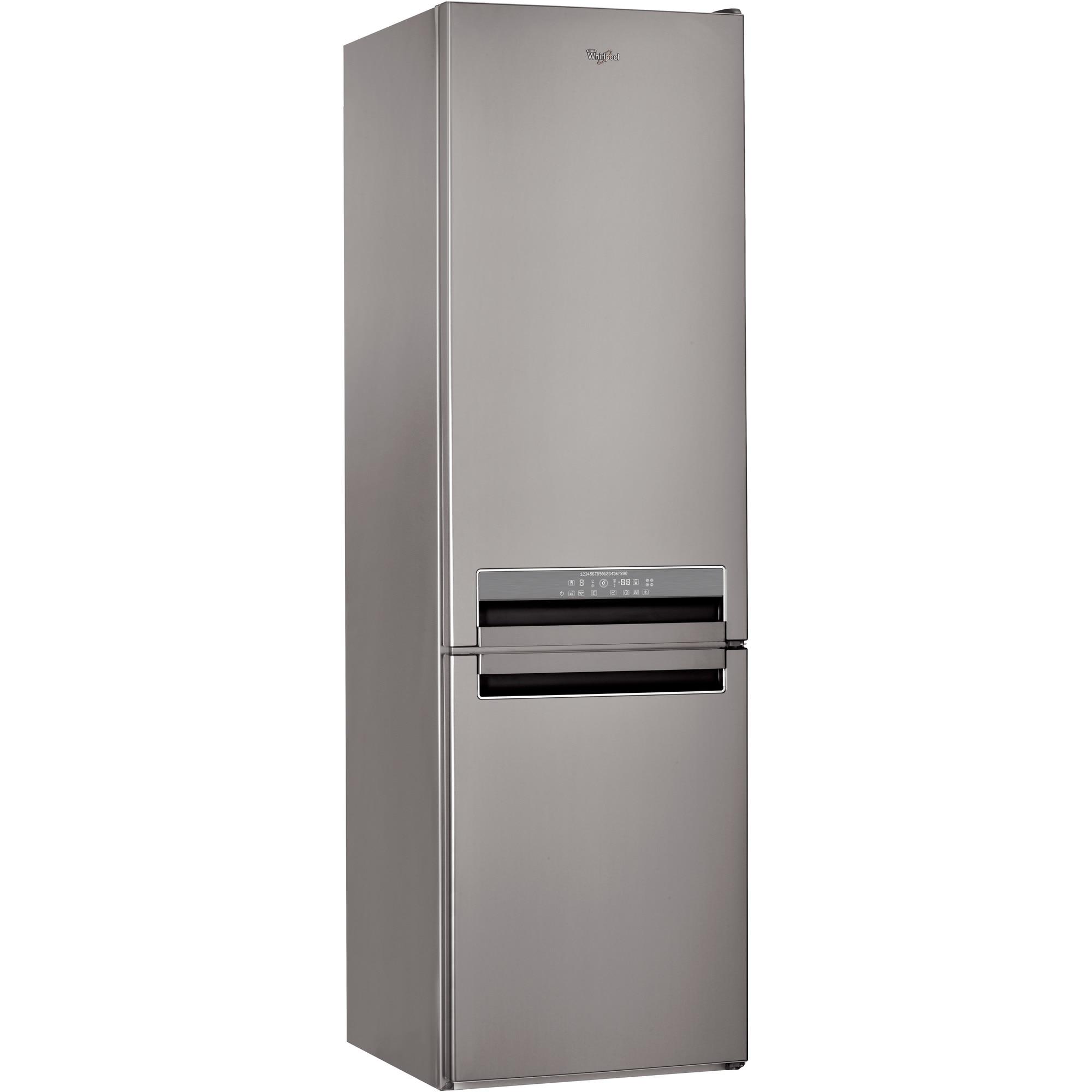 Fotografie Combina frigorifica Whirlpool BSNF 9782 OX, 339 l, Clasa A++, Full No Frost, 6th Sense, H 201 cm, Inox