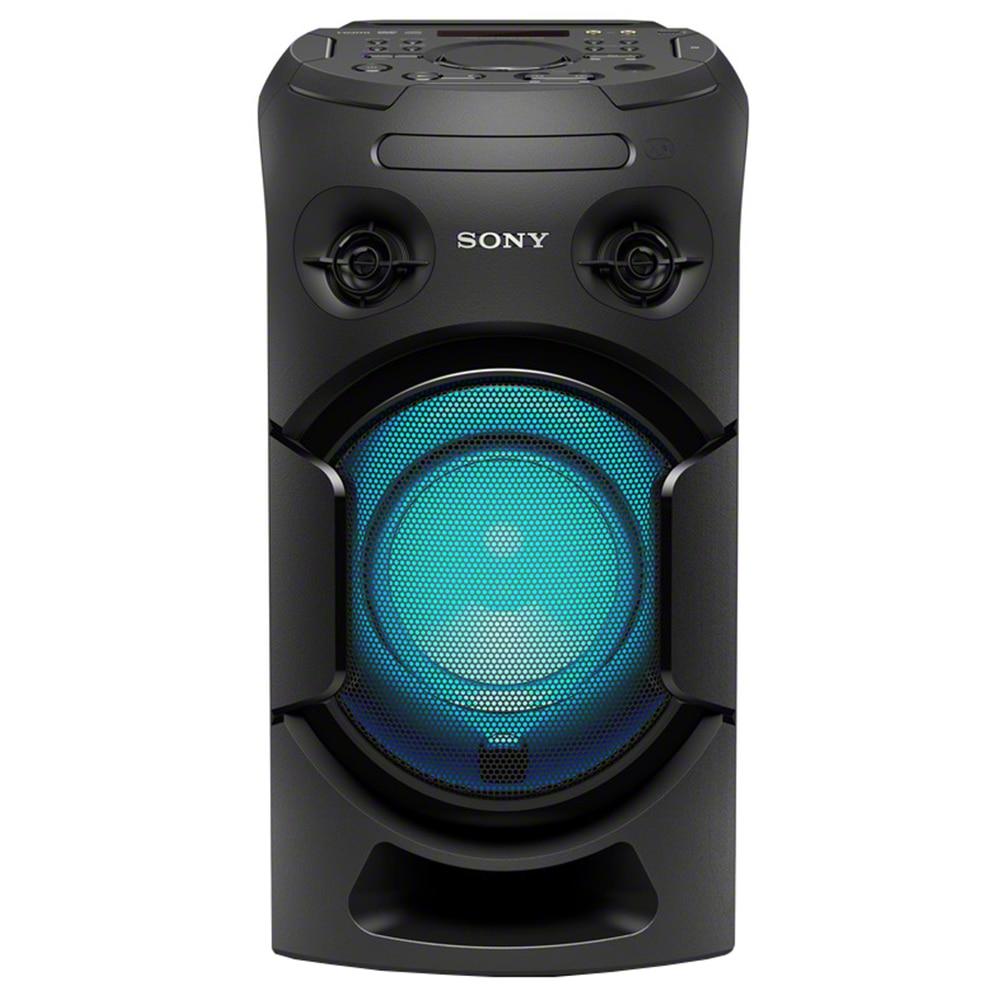 Fotografie Sistem audio High Power Sony MHC-V21D, Hi-Fi, Wireless Party Chain, Party music, Bluetooth, NFC, USB, DVD, Negru