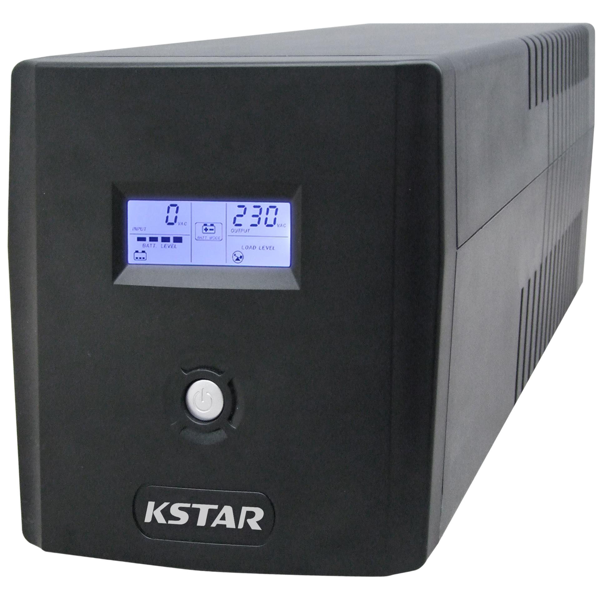 Fotografie UPS Kstar Micropower Micro 1500, 1500 VA, 900 W, LCD Display, USB, RJ45, Line-interactive