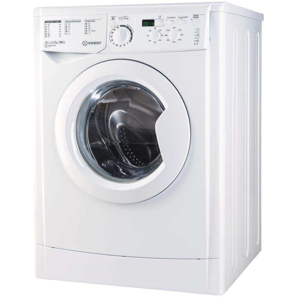 Fotografie Masina de spalat rufe Indesit EWD 71051 W EU, 7 Kg, 1000 rpm, Clasa A+, Alb