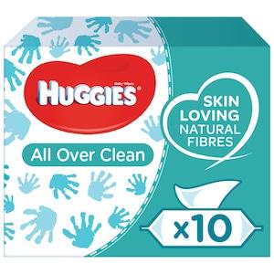 Servetele umede Huggies All Over Clean, 10 pachete x 56, 560 buc