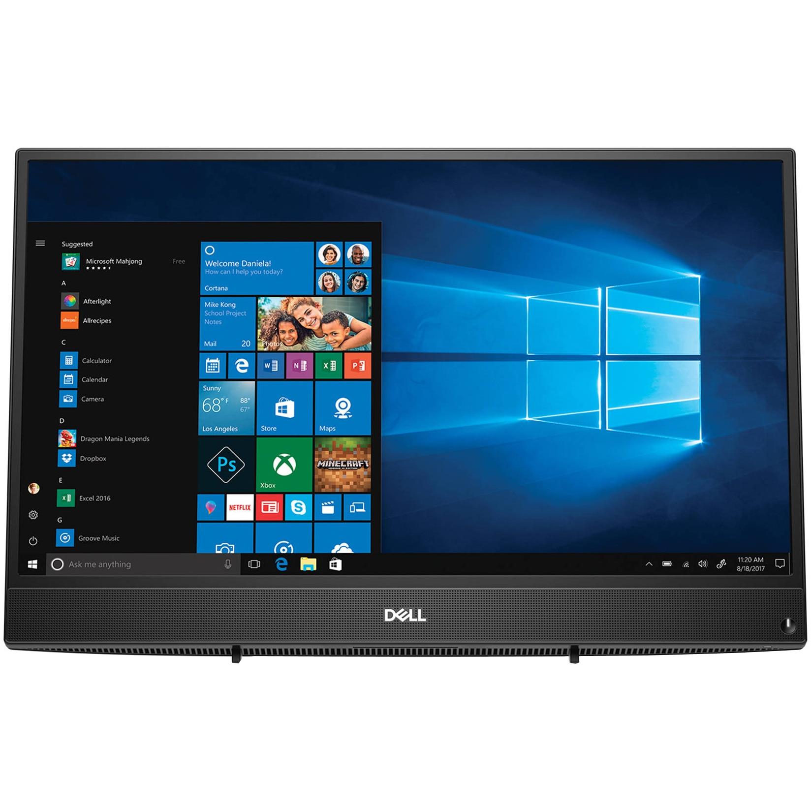 "Fotografie Sistem All-in-One Dell Inspiron 3477 cu procesor Intel® Core™ i3-7130U 2.70 GHz, Kaby Lake, 23.8"", Full HD, 4GB, 1TB, Intel HD Graphics 620, Microsoft Windows 10, Black"
