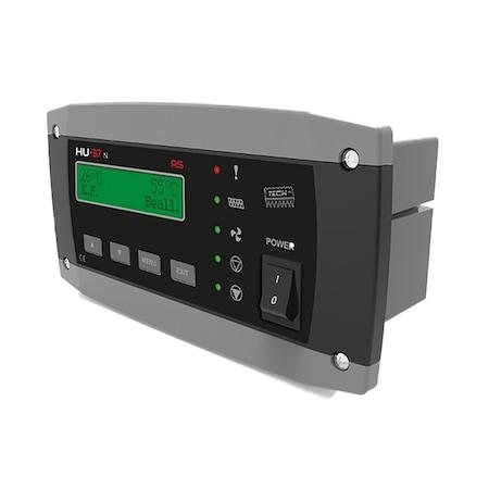 Automata adagolós kazán vezérlés, csigás adagolókhoz, ventilátor szabályozás, szivattyúk vezérlése, szobatermosztát