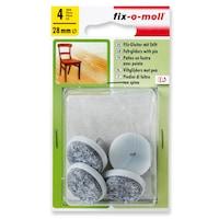 ABRABORO® FIX-O-MOLL szegezhető csúsztatófilc, fehér, D 28 mm, 4 db