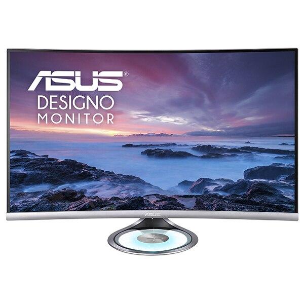 """Fotografie Monitor LED VA Asus 31.5"""", Curbat, WQHD, Display Port, Negru/Argintiu, MX32VQ"""