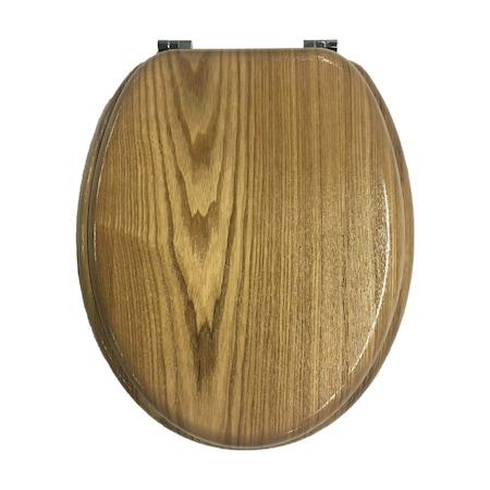 MDF WC ülőke (fémpántos, tölgy)