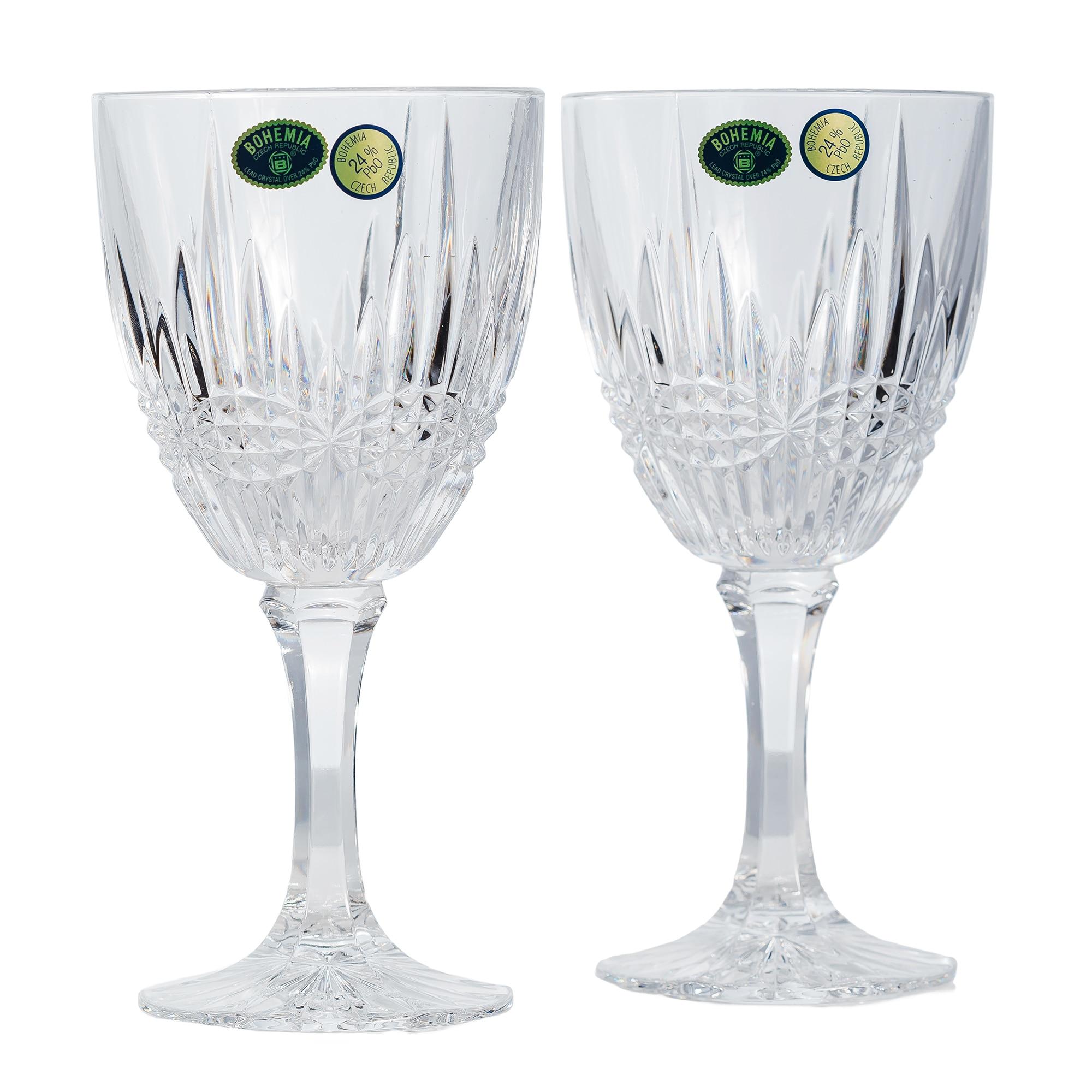 Fotografie Set 6 pahare vin Bohemia, model Vibes, cristal, 380 ml