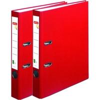 Biblioraft A4 Herlitz, FSC One File, PVC, latime 5 cm, Rosu (set/ 2 bucati)