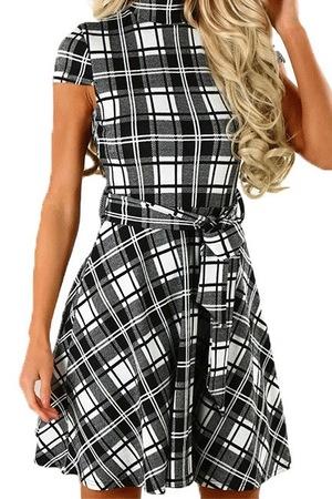Elegancka sukienka damska w kratę tamini M