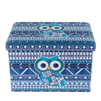 Табуретка DecoDepot Дизайн Blue Owl, размер 42 x 38 см