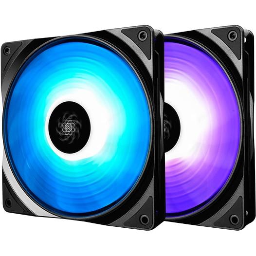 Fotografie Ventilator Deepcool RF140 RGB 2in1 Fan Pack, iluminare LED RGB