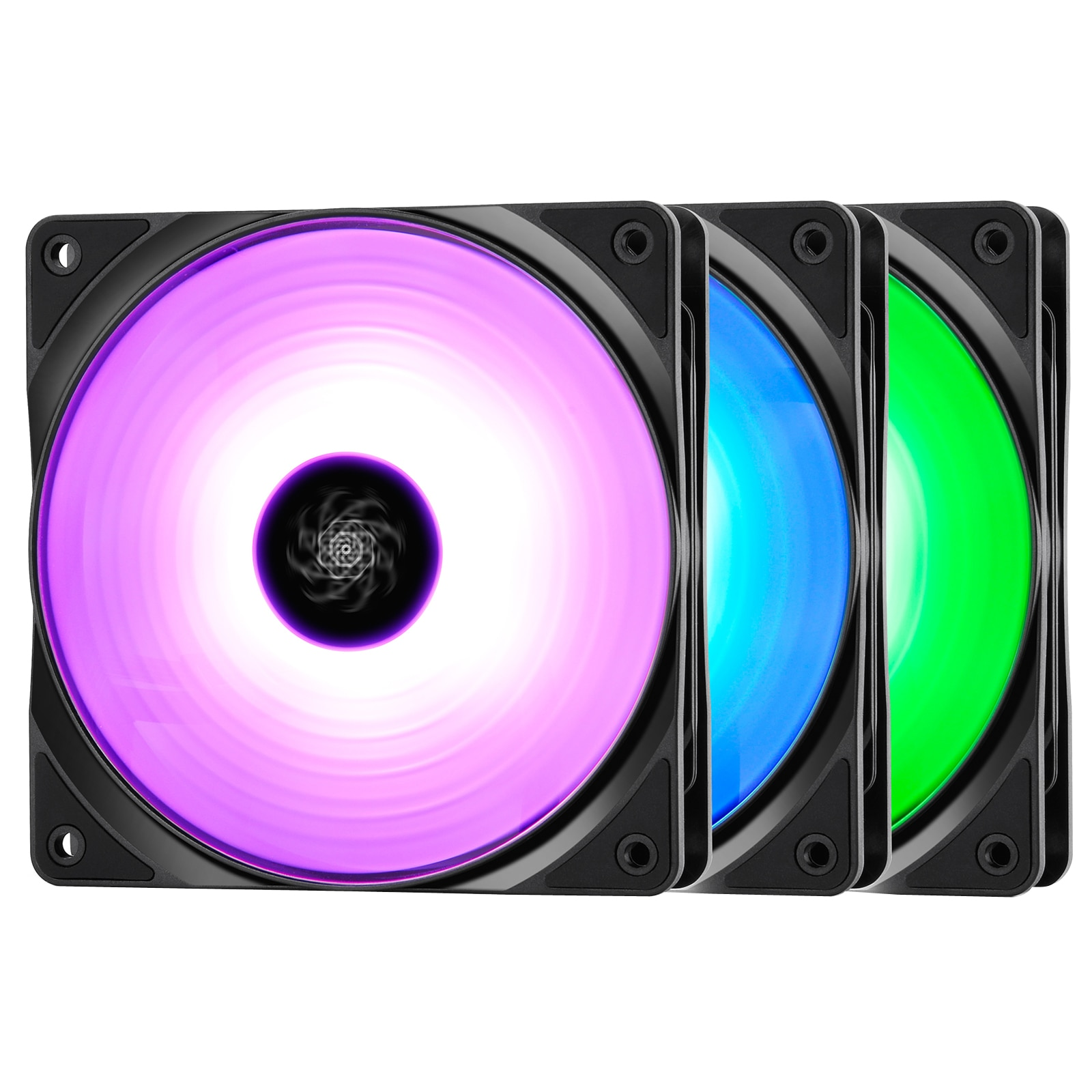 Fotografie Ventilator Carcasa Deepcool Rf120X3, Rgb Led, 120Mm, 3 buc, controller