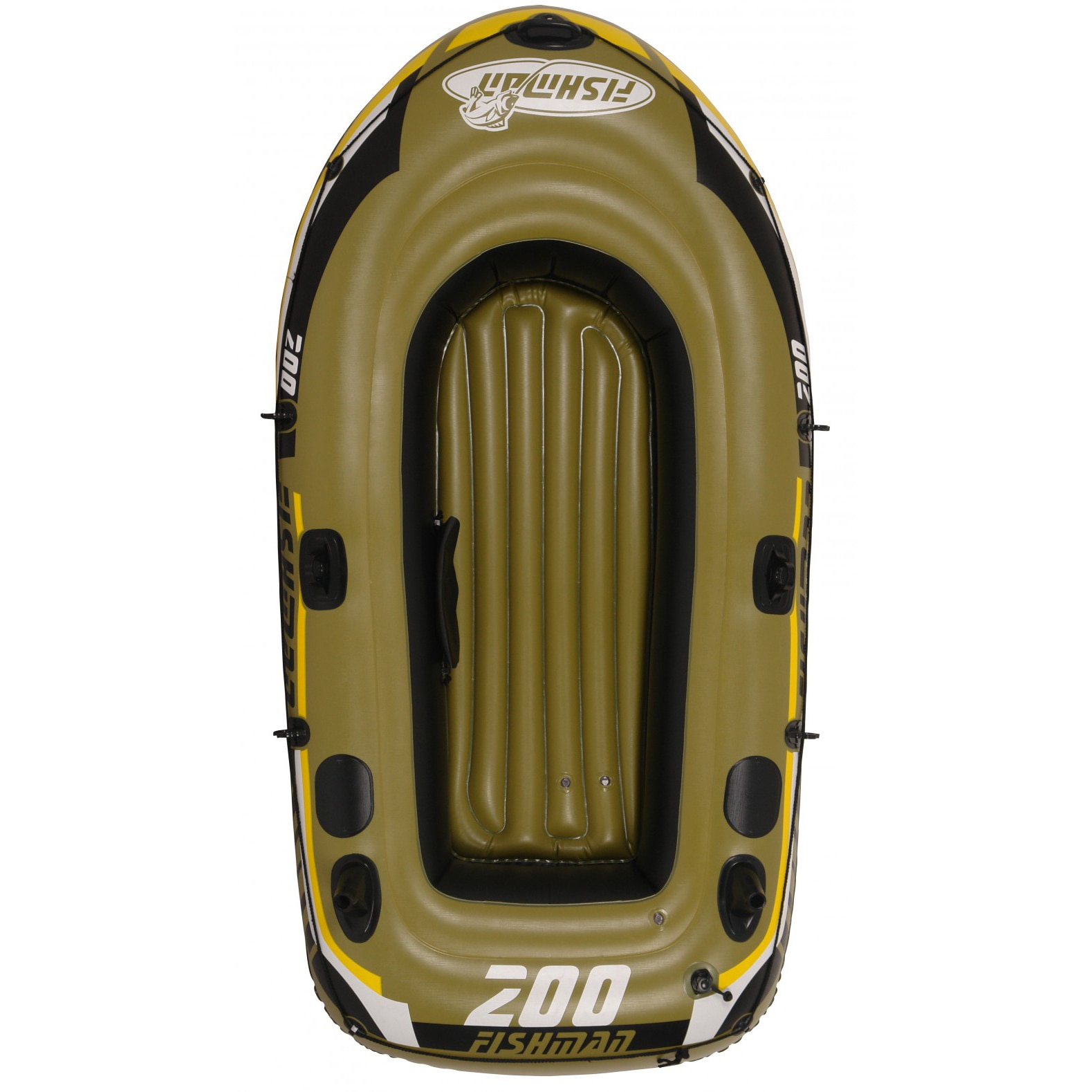Fotografie Barca gonflabila Fishman 200, 218*110*36 cm, cu pompa si vasle incluse
