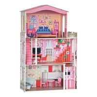 Woodyland háromszintes babaház lifttel - Barbie méretű babáknak is