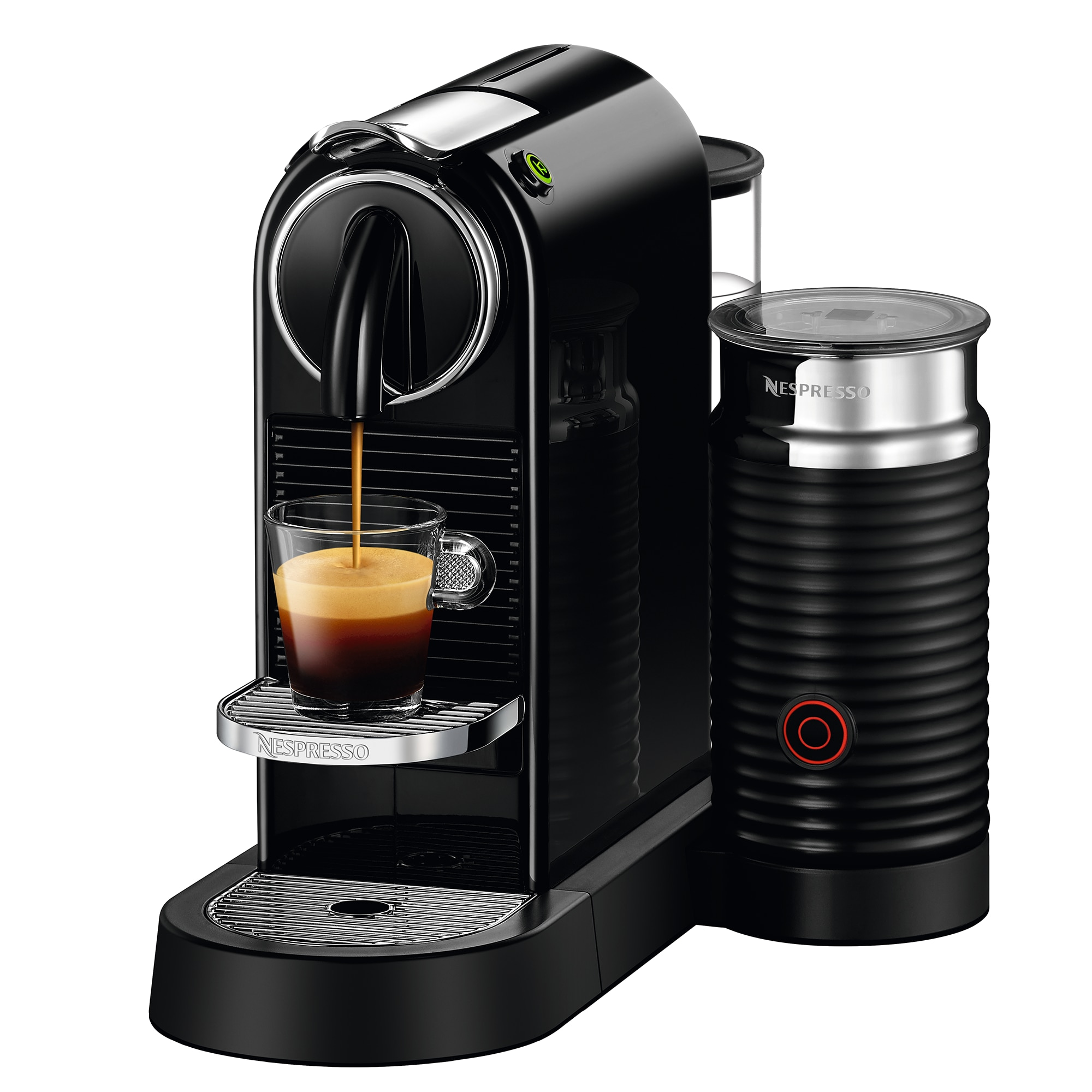 Fotografie Espressor Nespresso CitiZ & Milk Black D122-EU-BK-NE, 19 bari, 1710 W, 1 l, Negru + 14 capsule cadou