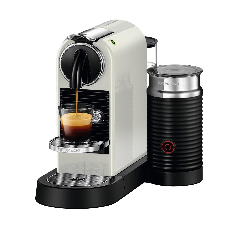 Fotografie Espressor Nespresso CitiZ & Milk White D122-EU-WH-NE, 19 bari, 1720 W, 1 l, Alb + 14 capsule cadou