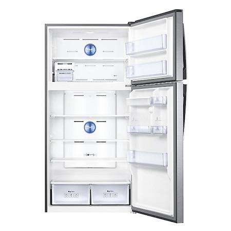 Хладилник с 2 врати Samsung RT58K7105SL/EO, 583 л, Клас F, No Frost, Компресор Digital Inverter, Диспенсър за вода, H 180 см, Inox