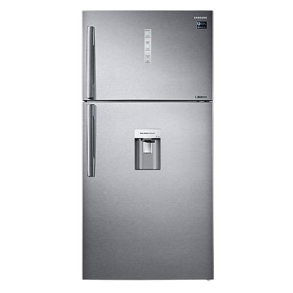 Fotografie Frigider cu doua usi Samsung RT58K7105SL/EO, 583 l, Clasa F, No Frost, Compresor Digital Inverter, Dozator de apa, H 180 cm, Inox