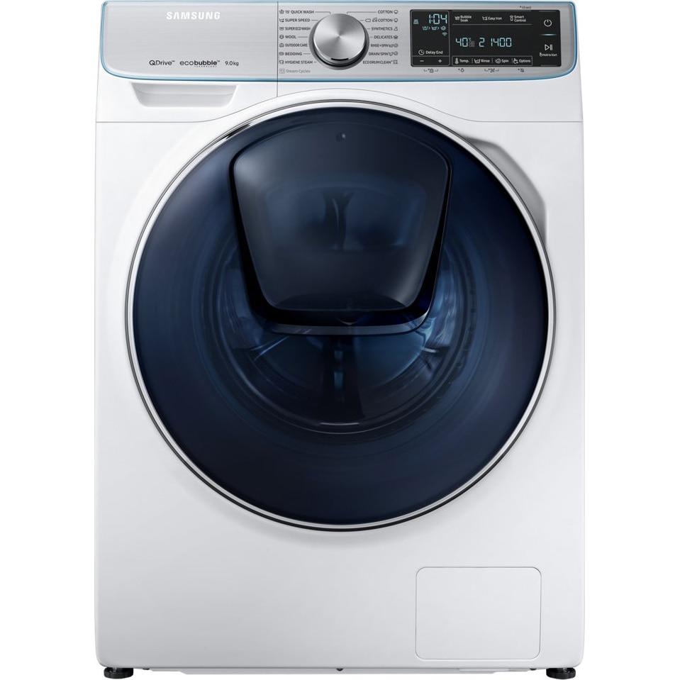 Fotografie Masina de spalat rufe cu uscator Samsung WD90N740NOA/LE, 9 Kg spalare, 5 Kg uscare, 1400 rpm, Clasa A, QuickDrive, EcoBubble, AddWash, Alb