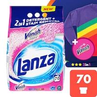 Lanza Vanish 2in1 Power Colors mosópor színes ruhákhoz, 70 mosás, 5,25 kg